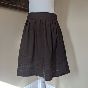 LOFT brown circle skirt